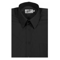 Svart skjorta m. kort ärm från Perzoni