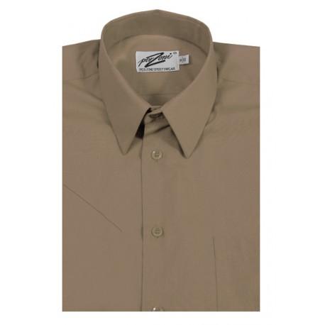 Beige skjorta m. kort ärm från Perzoni