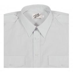 Vit Pilotskjorta m. kort ärm från Perzoni