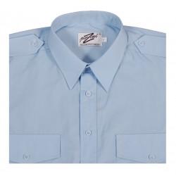 Ljusblå Pilotskjorta m. kort ärm från Perzoni