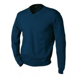Blå V-stickad tröja från Perzoni
