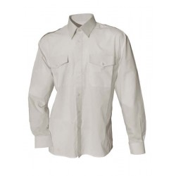 Vit Pilotskjorta m. lång ärm från Perzoni