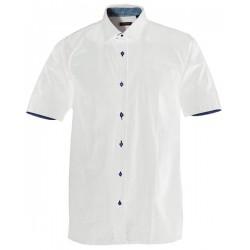Vit skjorta i STRETCH m. kort ärm från Perzoni