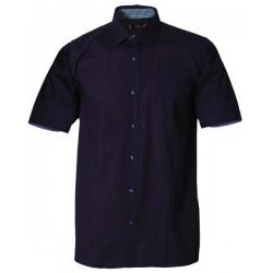 Svart skjorta i STRETCH m. kort ärm från Perzoni